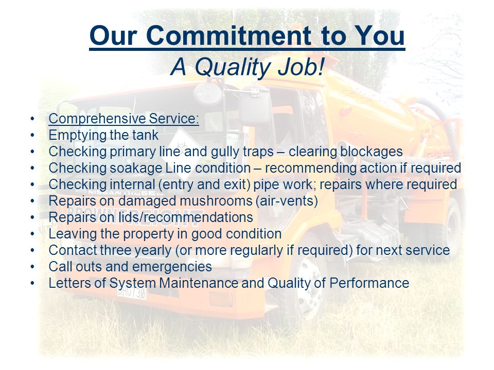 Our Commitment to You A Quality Job.