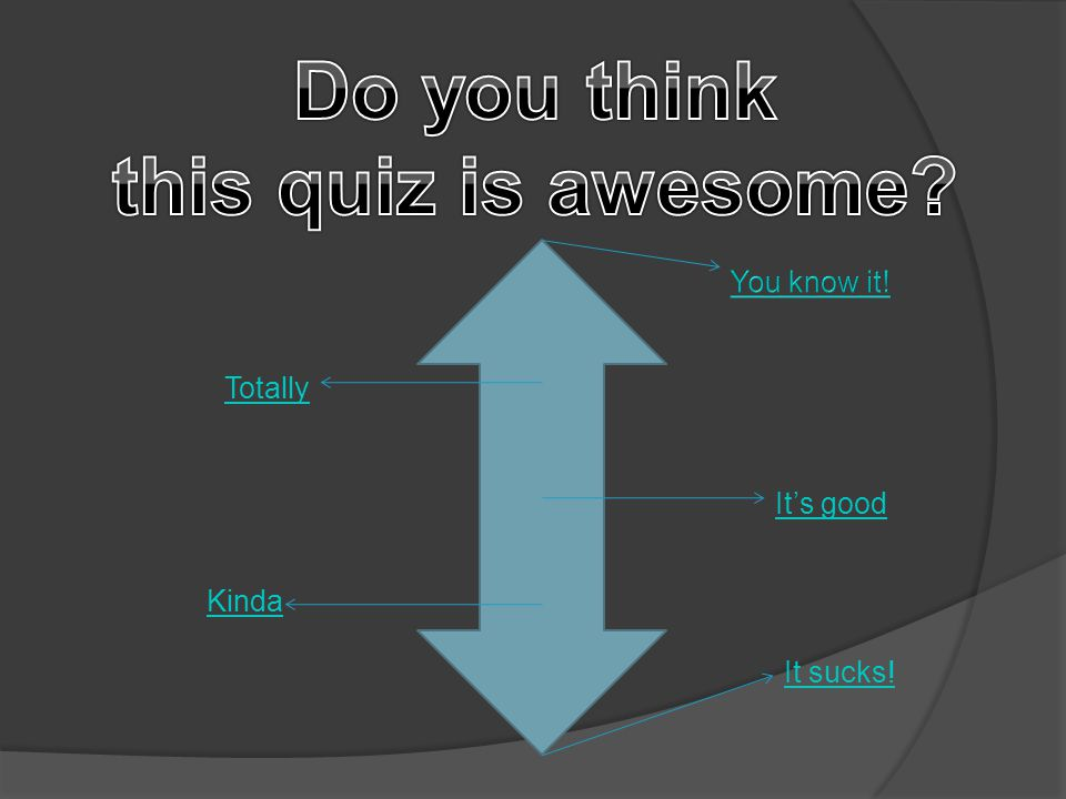 Last question Back to menu