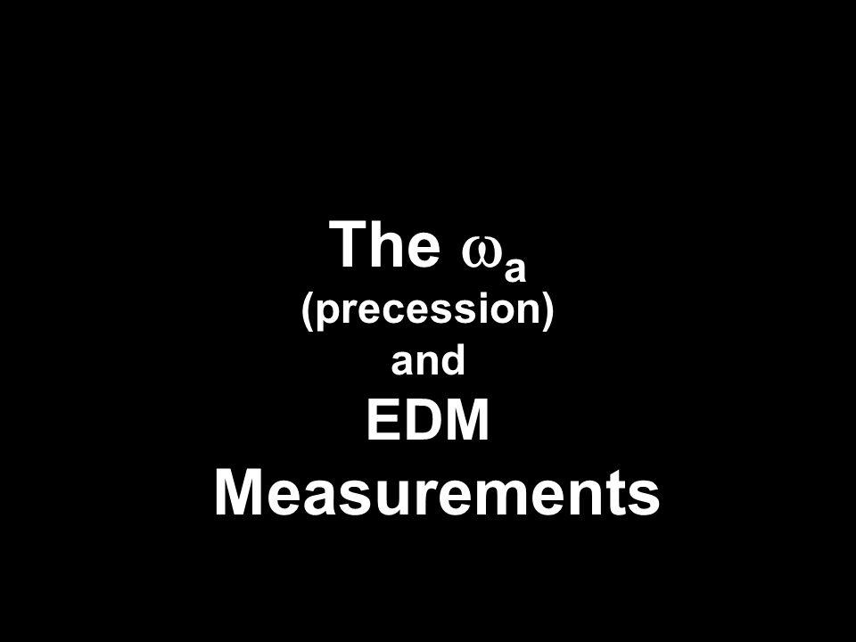 The  a (precession) and EDM Measurements