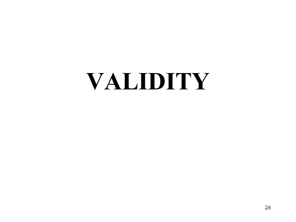 VALIDITY 26