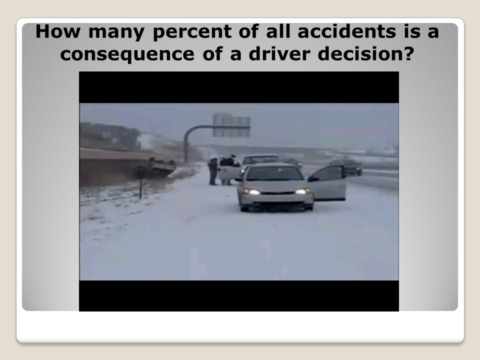 How many percent of all accidents is a consequence of a driver decision