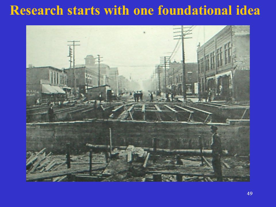 49 Research starts with one foundational idea