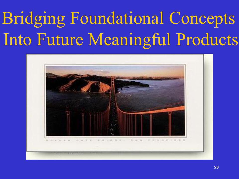 59 Bridging Foundational Concepts Into Future Meaningful Products