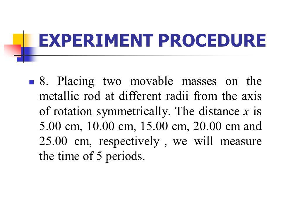 EXPERIMENT PROCEDURE 8.