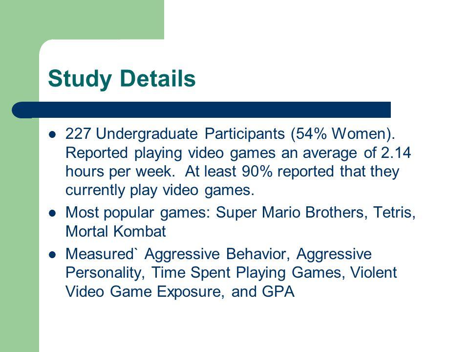 Study Details 227 Undergraduate Participants (54% Women).