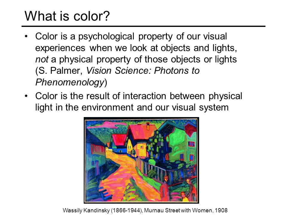 What is color.