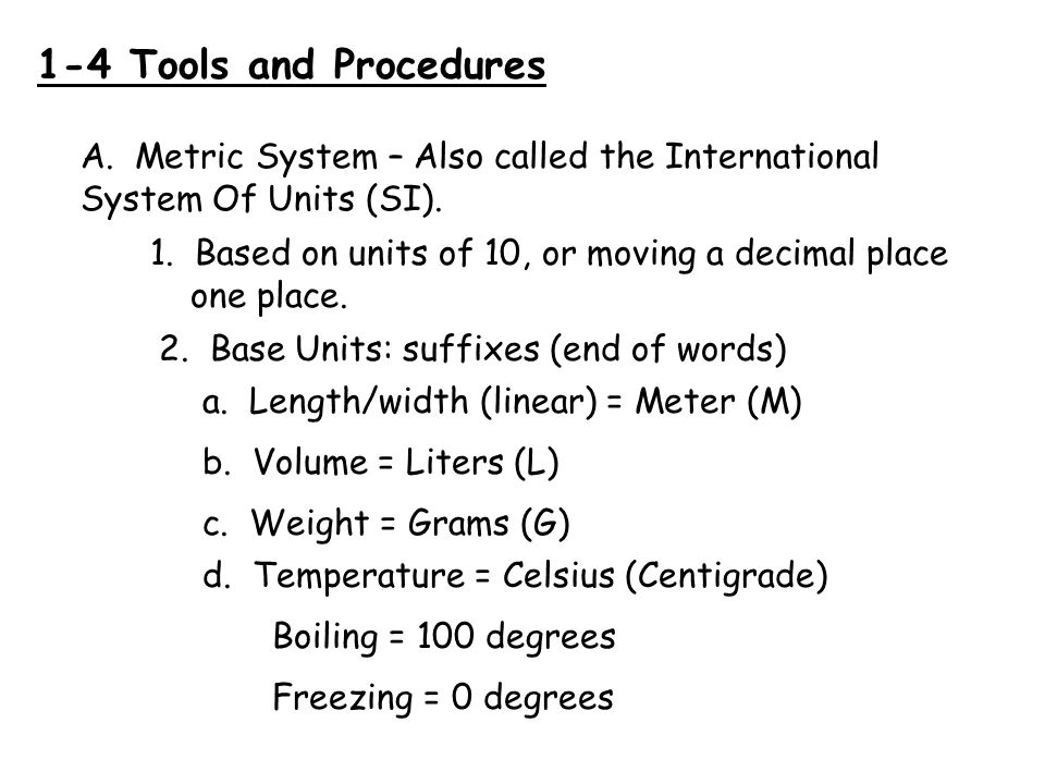 How to Convert in the Metric System Prefixes Kilo – (K) = 1000 M, L.