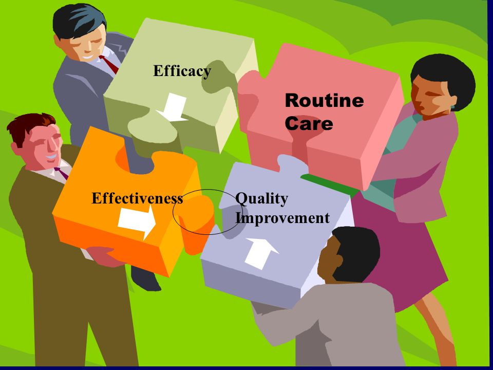 Efficacy EffectivenessQuality Improvement Routine Care