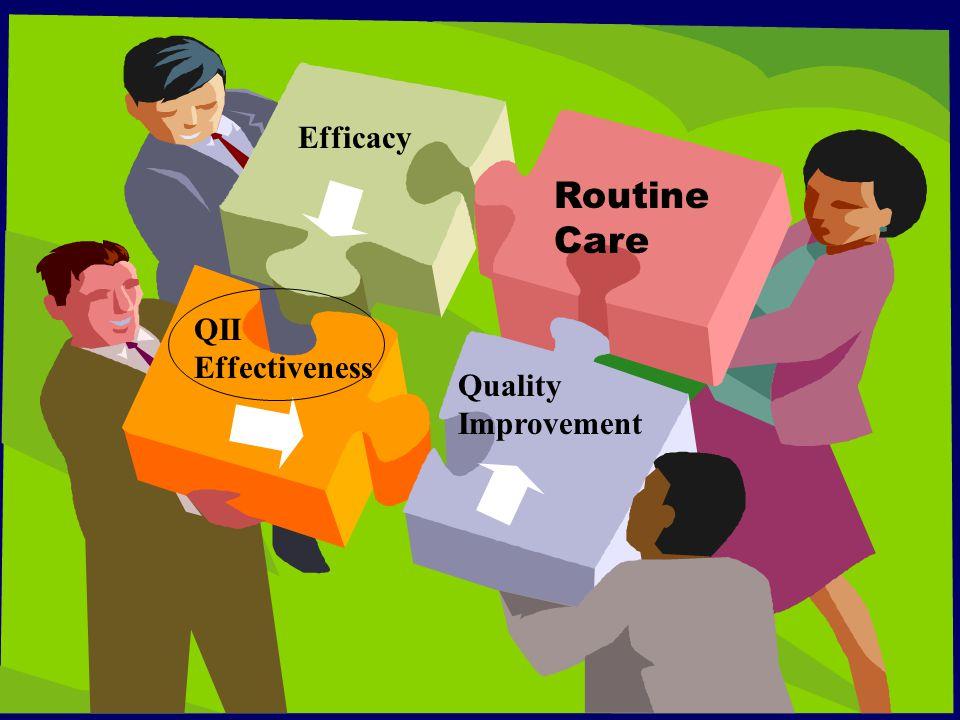Efficacy EffectivenessQuality Improvement Routine Care