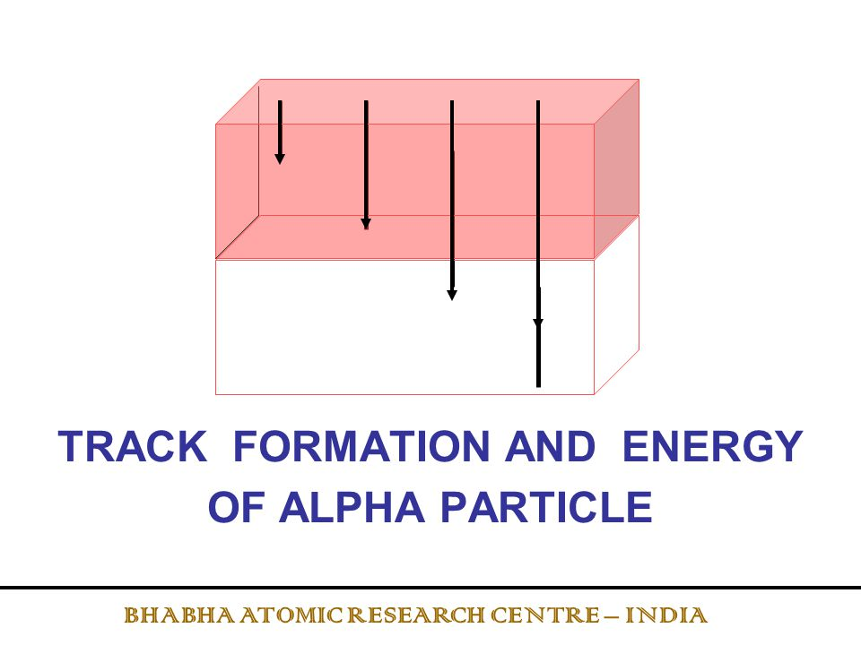 RESPONSE OF LR-115 DETECTOR TO ALPHA PARTICLES IN Tn CUP BHABHA ATOMIC RESEARCH CENTRE – INDIA 6.2 cm 4.1 cm SSNTD 220 Rn 216 Po 212 Bi 212 Po Cupwall