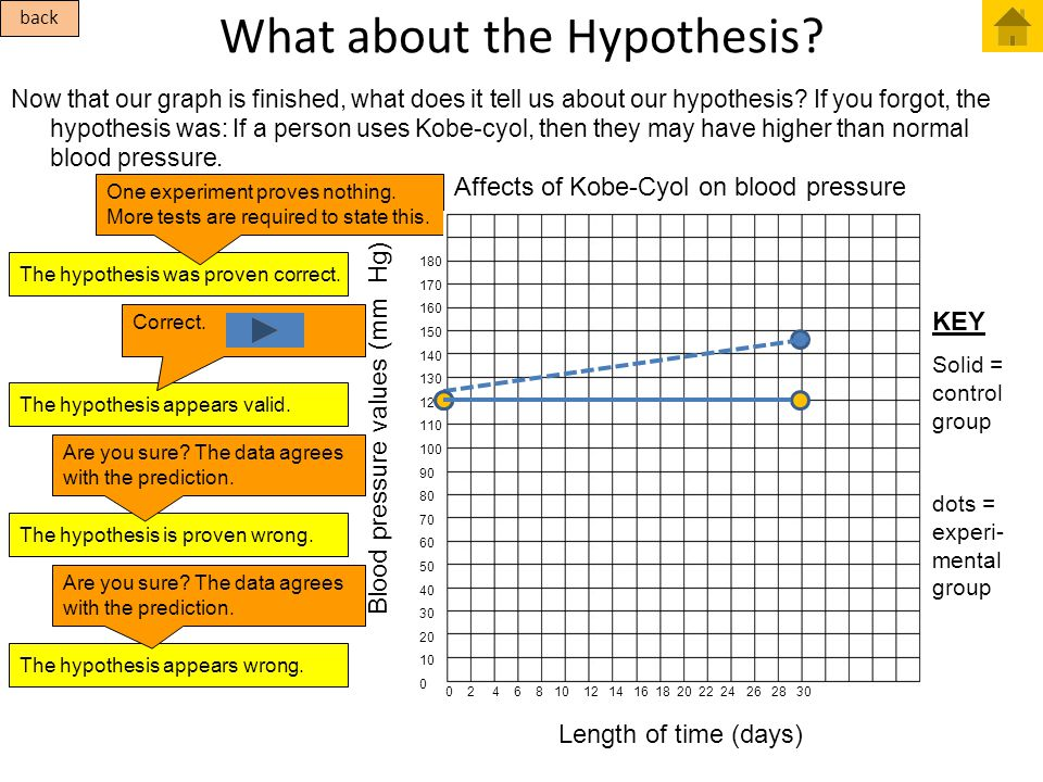 What about the Hypothesis? Now that our graph is finished, what does it tell us about our hypothesis? If you forgot, the hypothesis was: If a person u