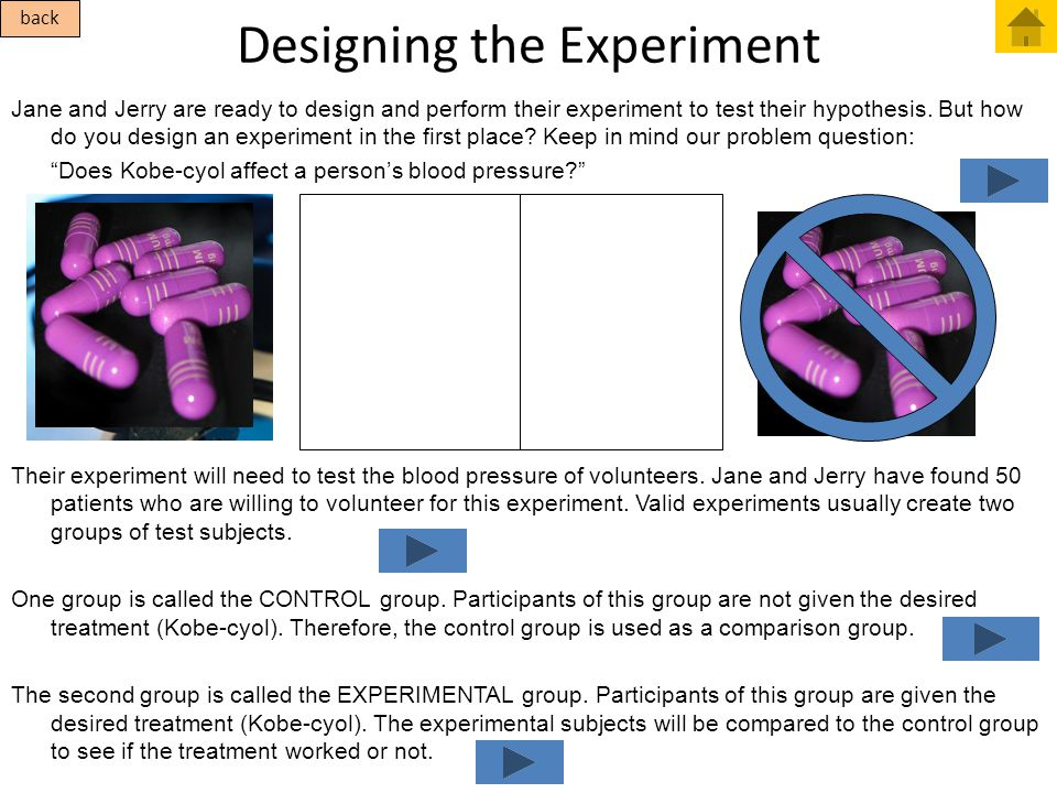 Designing the Experiment Jane and Jerry are ready to design and perform their experiment to test their hypothesis. But how do you design an experiment