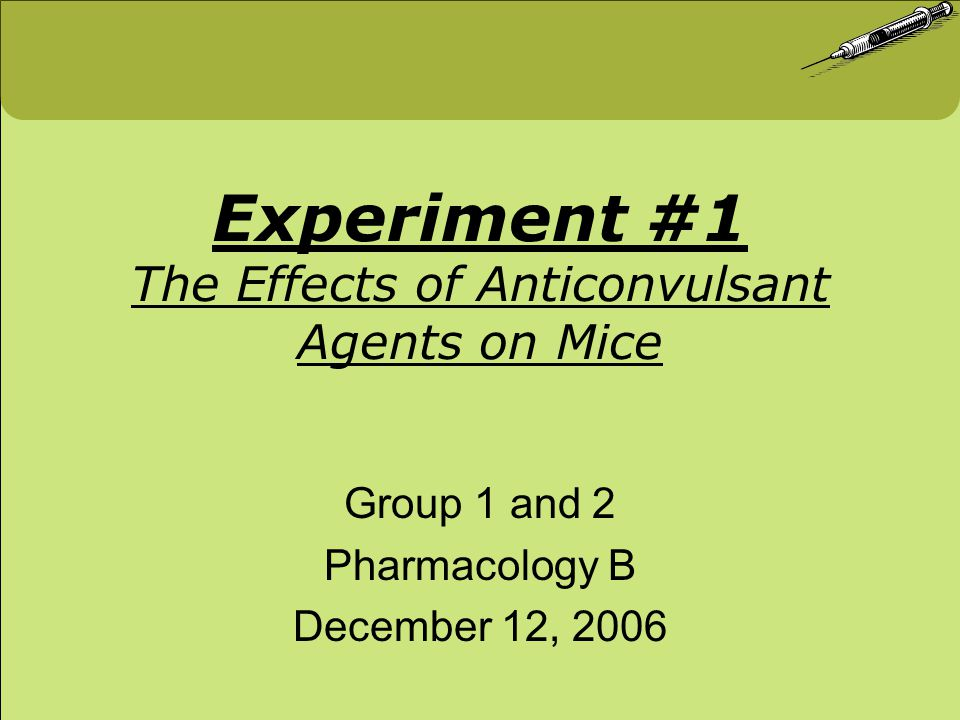 Mouse A = 15.5 g Inject 0.2cc of 3% Nicotine intraperitoneally