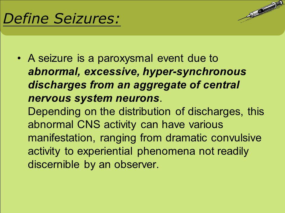 #6 Different Types of Epilepsy and management Generalized Tonic-clonic (grand-mal) Phenytoin Carbamazepine Phenobarbital Primidone Valproi Acid Absence (petit) Valproic Acid Ethosuximide Clonazepam Mycoclonic Valproic Acid Clonazepam Febrile Seizures in Children Diazepam Status Epilepticus Phenytoin Phenobarbital Diazepam Lorazepam