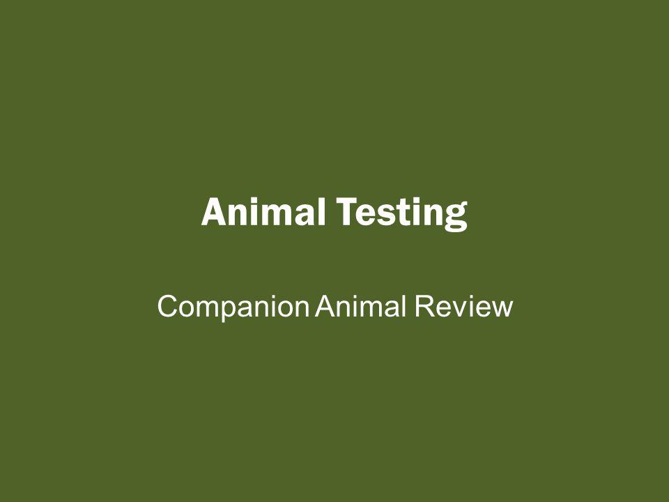 Animal Testing Companion Animal Review