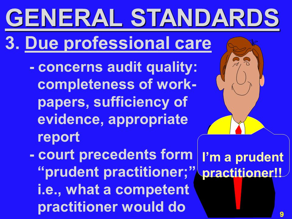 20 Generally Accepted Auditing Standards REPORTING STANDARDS 1.