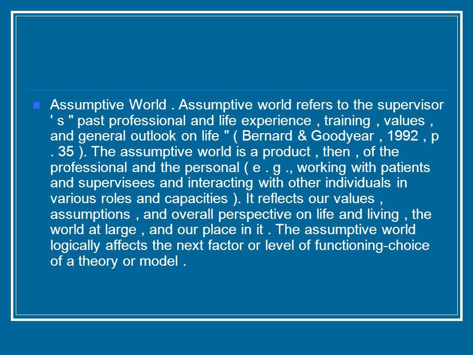 Assumptive World.