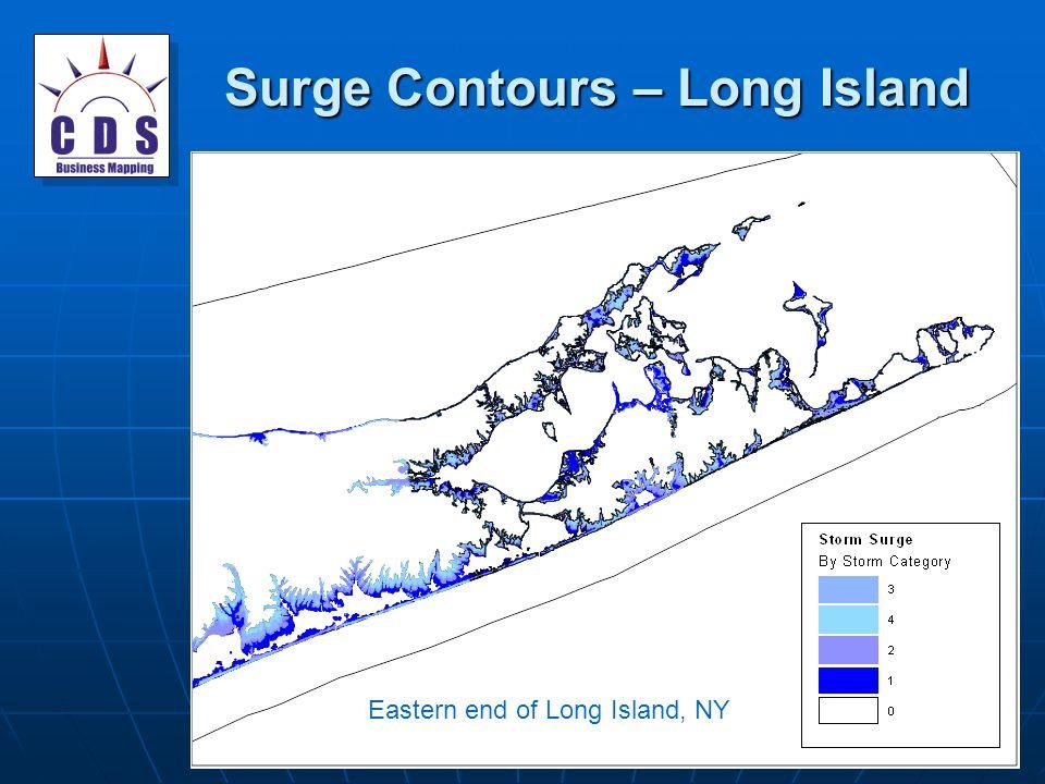 Surge Contours – Long Island Eastern end of Long Island, NY