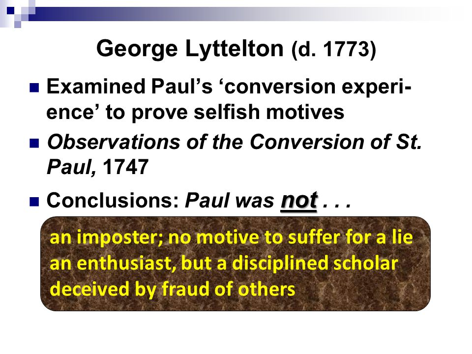 George Lyttelton (d.