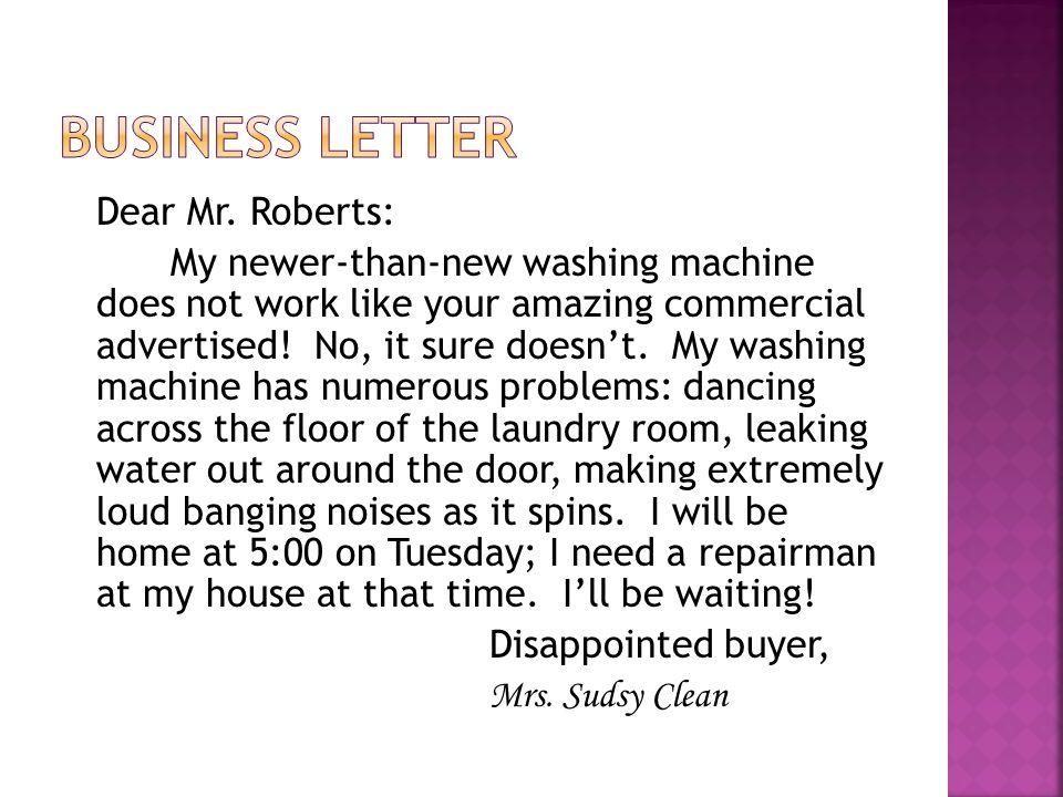 Dear Mr.