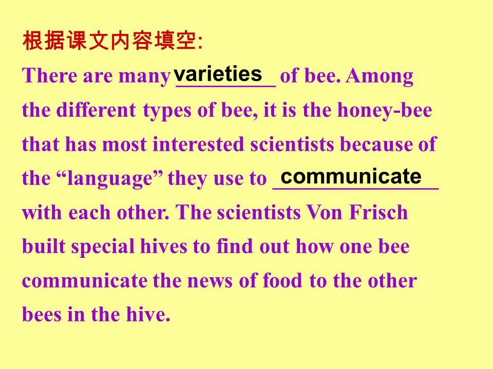 Para.8 Karl von Frisch Frisch is best known for his studies of bees.