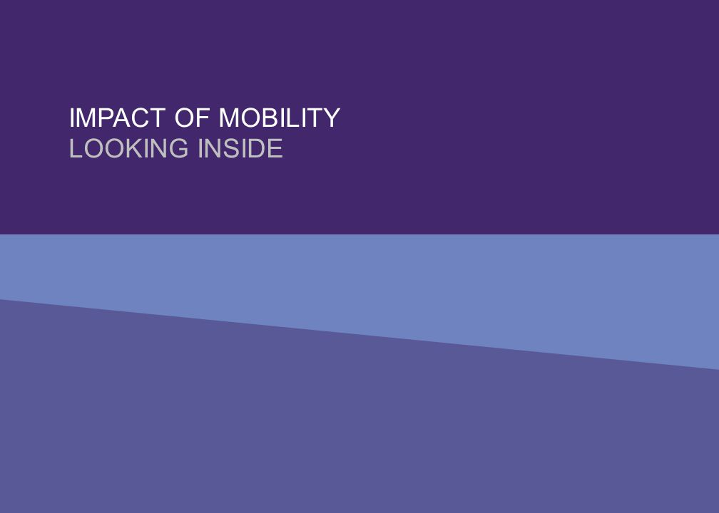 IMPACT OF MOBILITY LOOKING INSIDE
