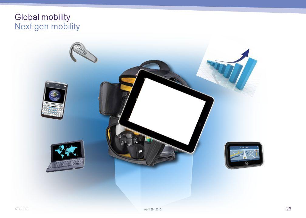 MERCER 26 April 29, 2015 Global mobility Next gen mobility