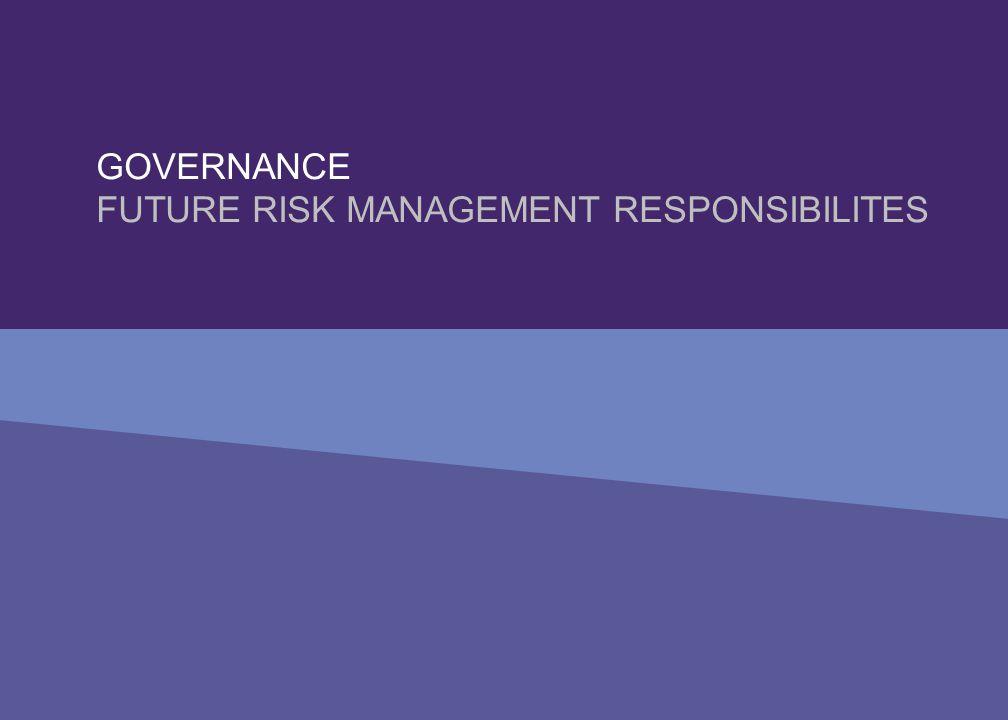 GOVERNANCE FUTURE RISK MANAGEMENT RESPONSIBILITES