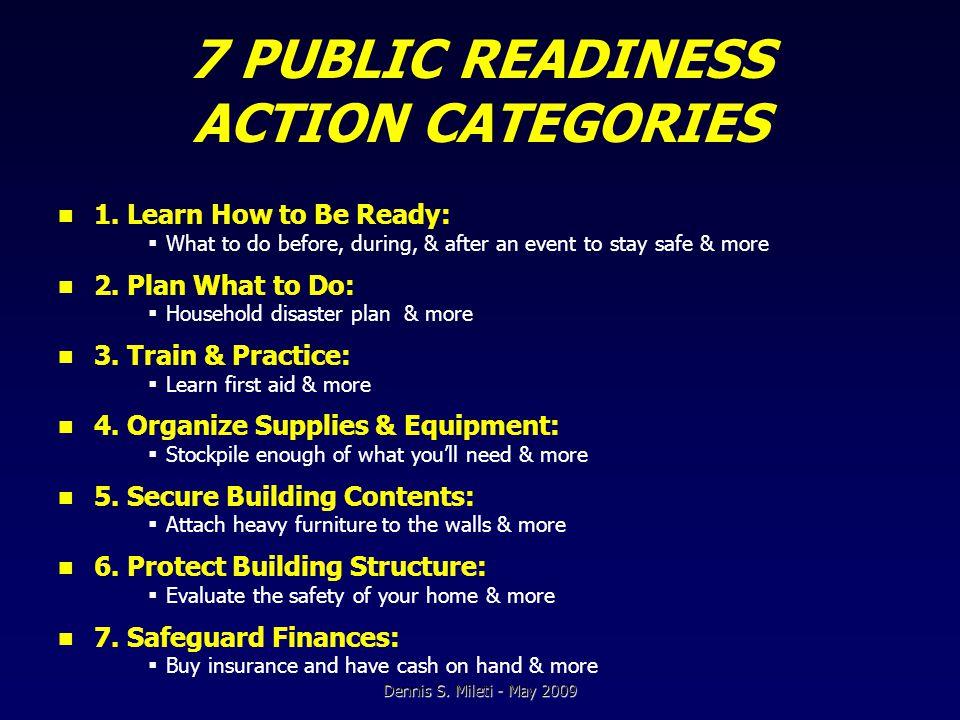 FINDINGS: PUBLIC READINESS CORRELATES 1.
