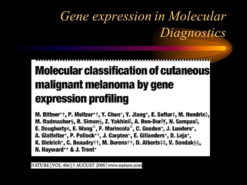 Gene expression in Molecular Diagnostics