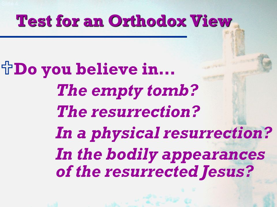 Slide 45 Objections to a Physical Resurrection  He was not recognized by His own disciples.