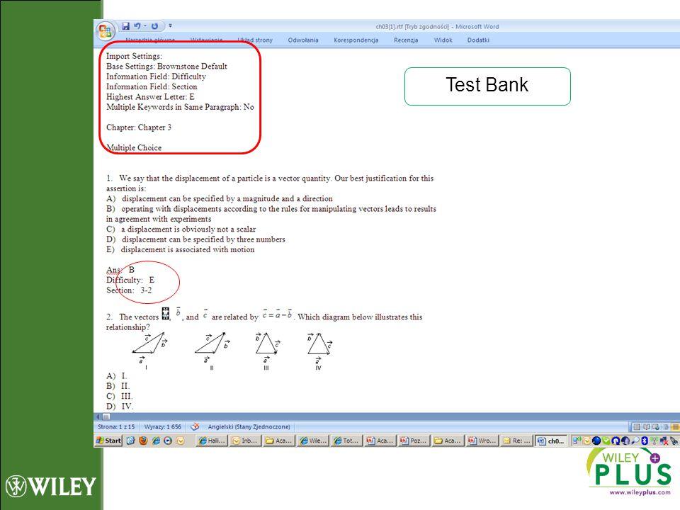 Test Bank