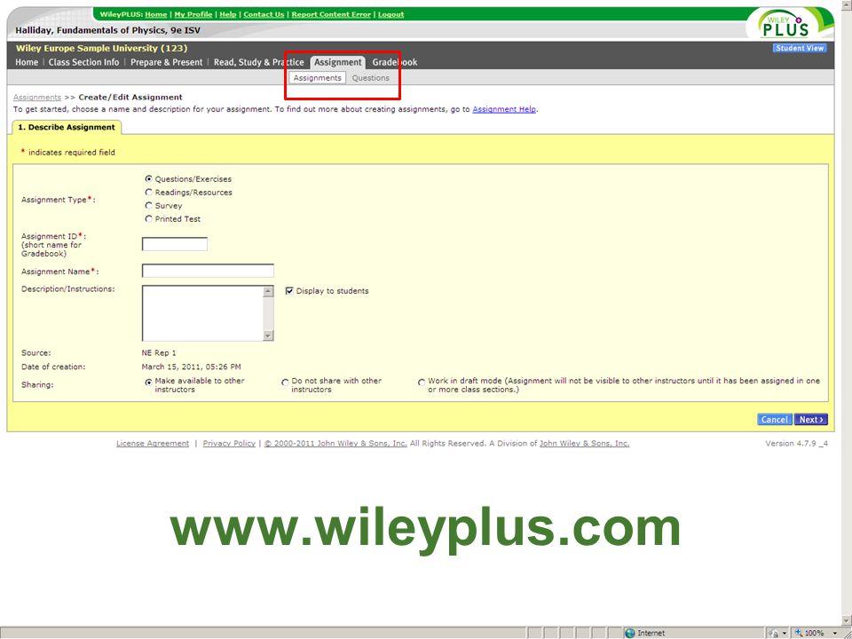 www.wileyplus.com