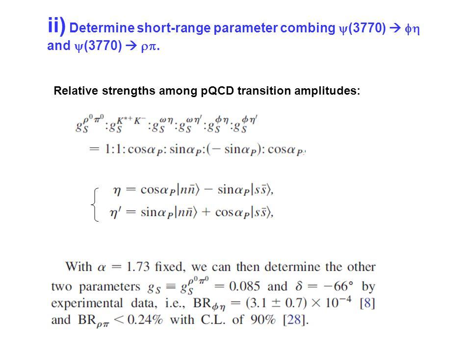 ii) Determine short-range parameter combing  (3770)   and  (3770)  .