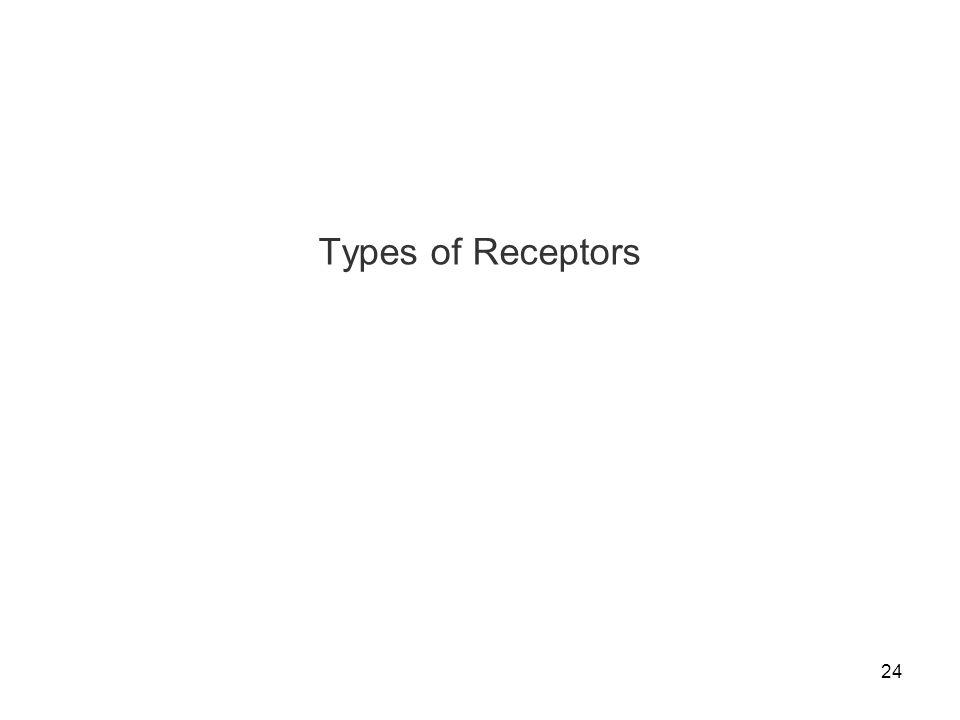 24 Types of Receptors