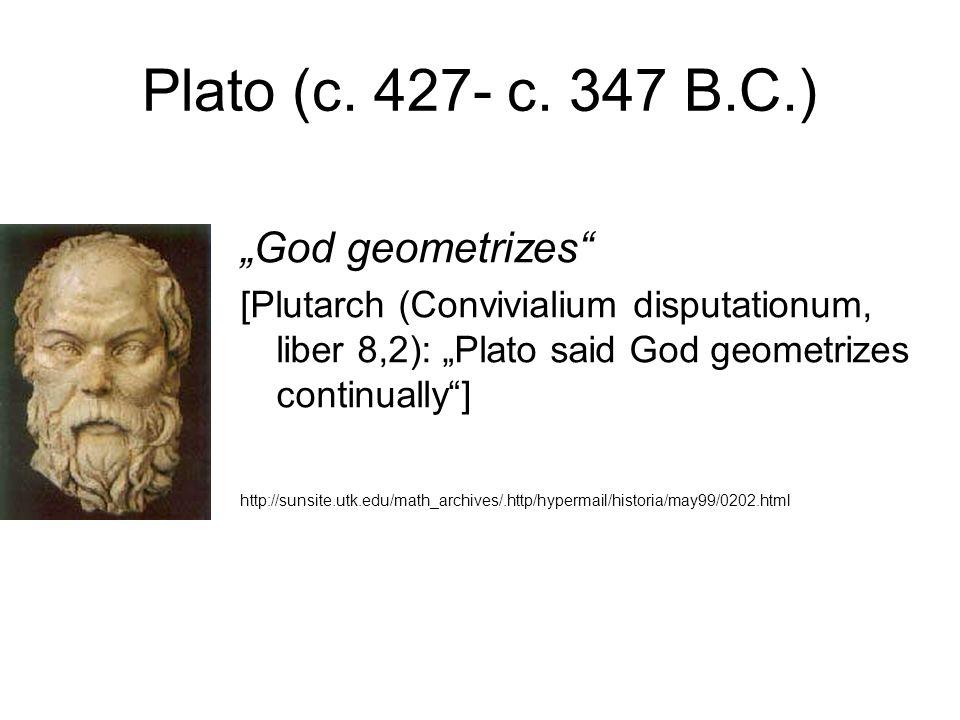 Plato (c. 427- c.