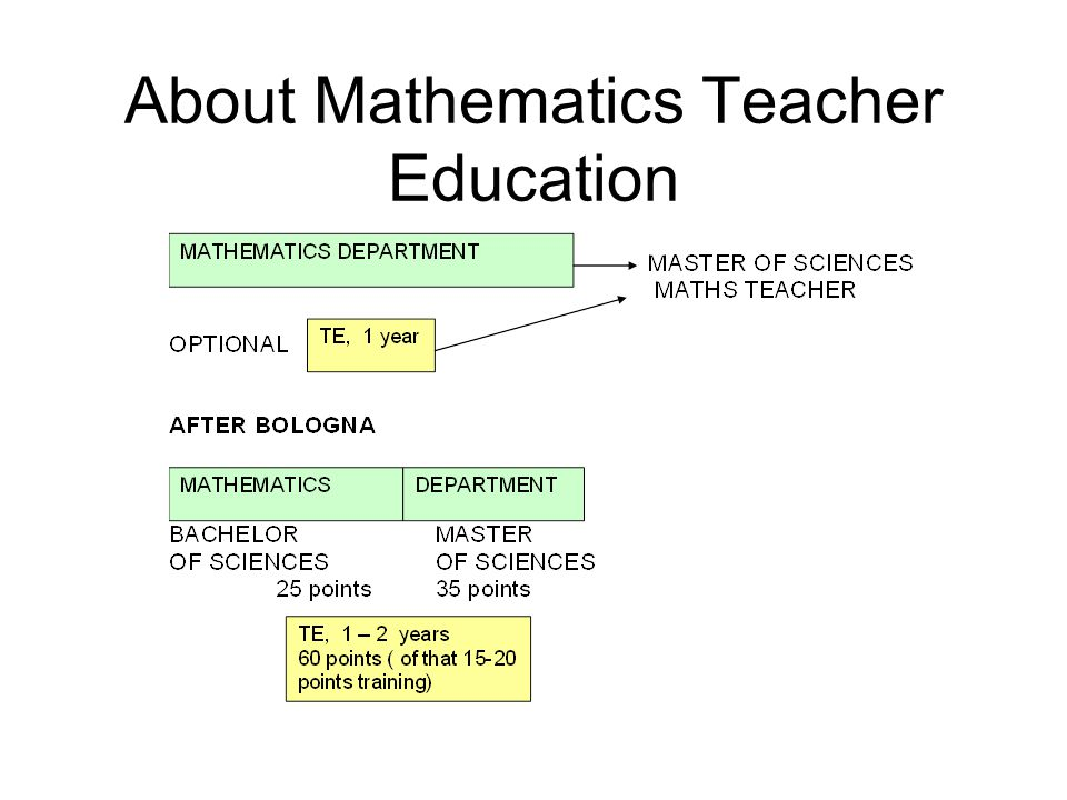 About Mathematics Teacher Education