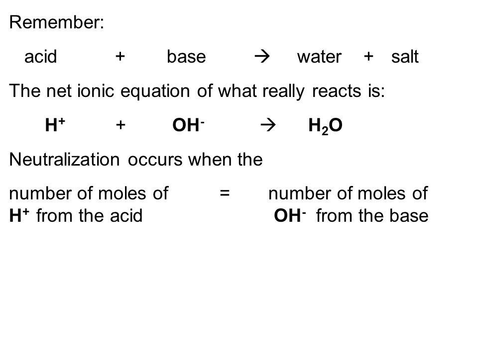 molarity = moles solute liters of soln. molarity = moles volume molarity x vol. = moles