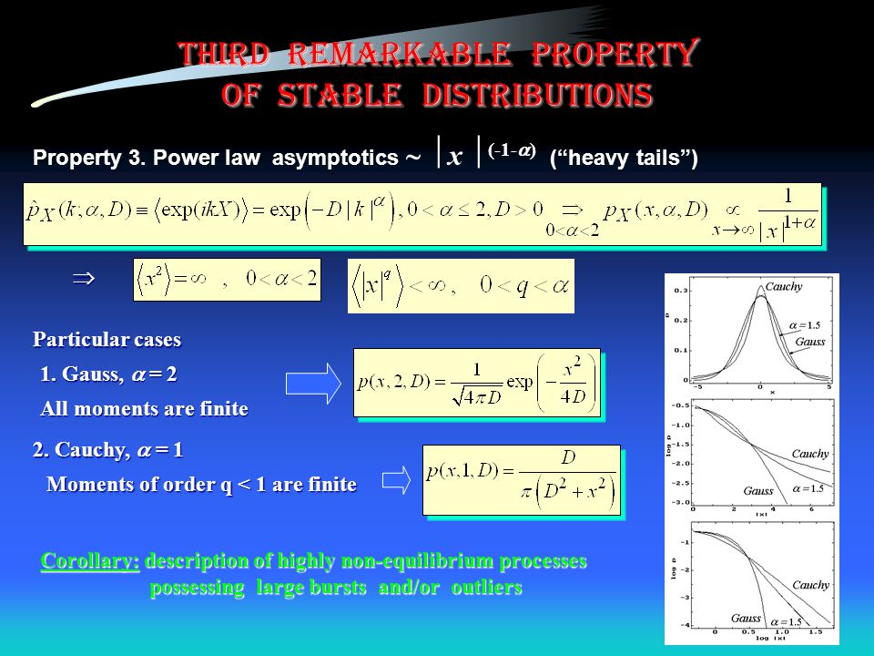 third remarkable property of stable distributions Property 3.