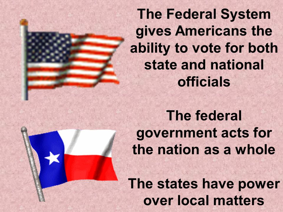 Powers of the government changed under the Constitution Under the Articles of Confederation, the states had greater power than the federal government Under the Constitution, the states were required to give up some powers, but kept many of them The sharing of power between the federal and state governments is known as FEDERALISM (or the FEDERAL SYSTEM)
