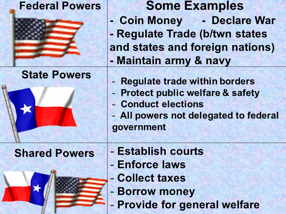 The Federal System gives Americans the ability to vote for both state and national officials The federal government acts for the nation as a whole The states have power over local matters