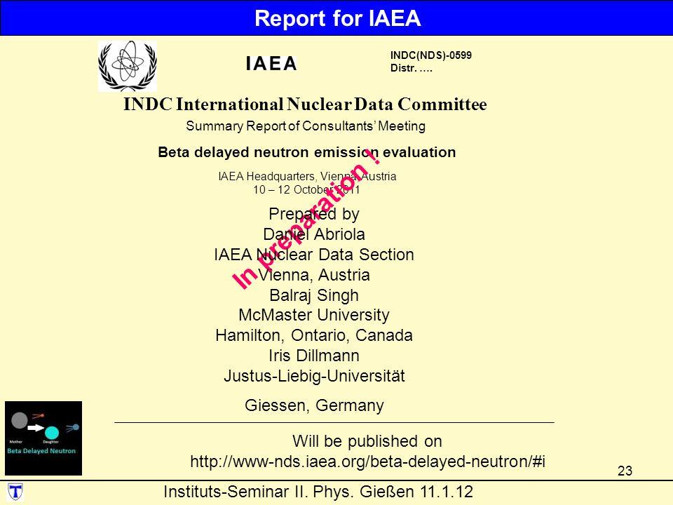 23 INDC(NDS)-0599 Distr.….