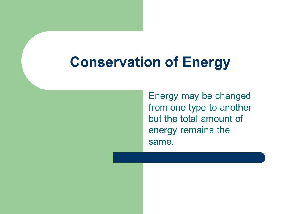 Energy – a review Energy – the ability to do work Potential energy P.E. = mgh Kinetic energy K.E. = ½ mv 2