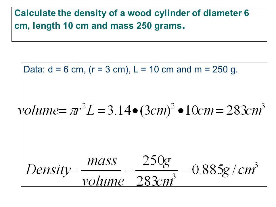 Density – help for your pre-lab Density is the mass per unit volume. Density = mass/volume D=m/v