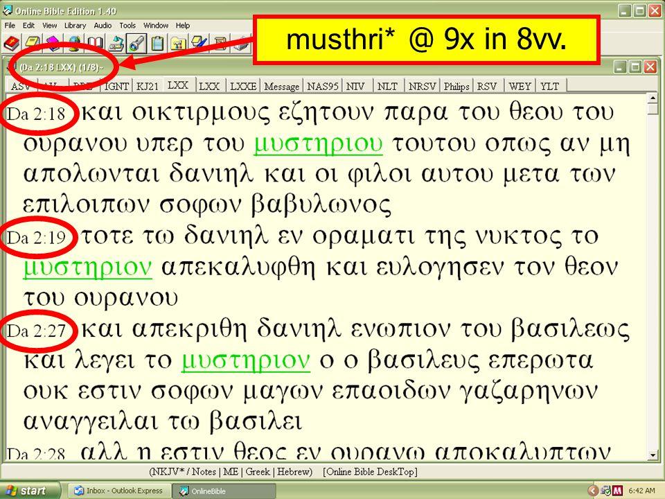musthri* @ 9x in 8vv.