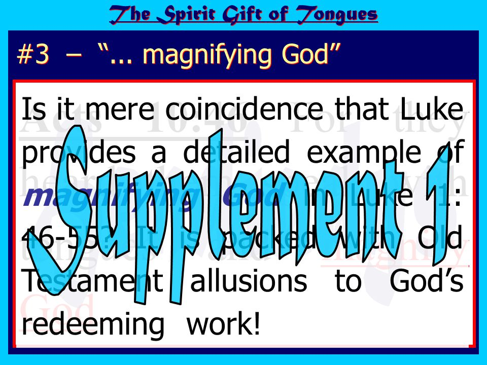 The emphasis is therefore first of all on the gospel message.