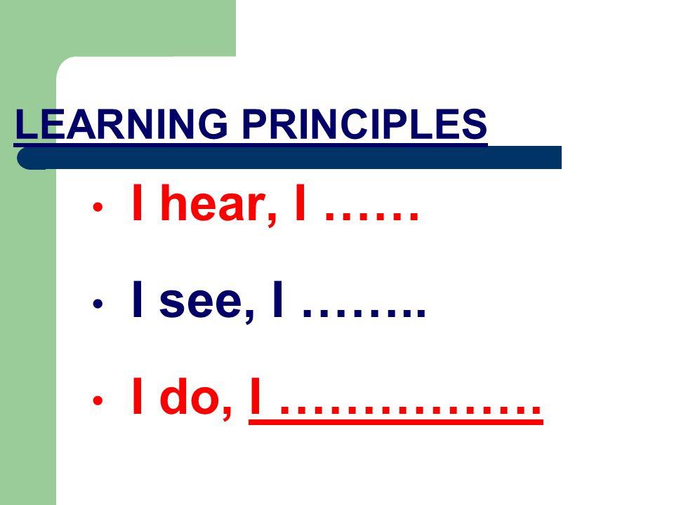 0 20 40 50 60 70 80 90 100 Read Hear See See & Hear Discuss Experi- ence Live & Teach We Learn...