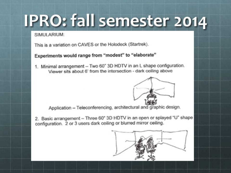 IPRO: fall semester 2014