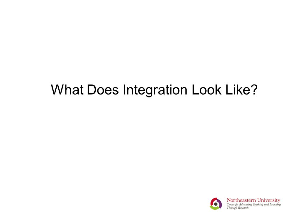 What Does Integration Look Like?