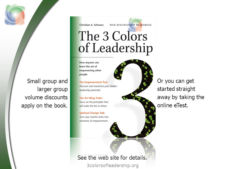 Small group and larger group volume discounts apply on the book.